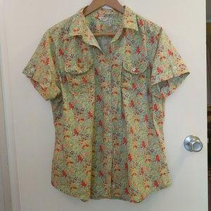 Floral Ditsy Print Camp Shirt